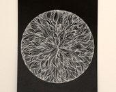 Succulent - Original gel pen drawing