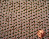 QUARTER YARD orange floral VINTAGE fabric