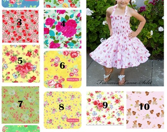 Custom summer twirl dress Choose your fabric, shirred twirl dress, floral dress, tiered dress, girls dress, tween girl dress, ruffled dress