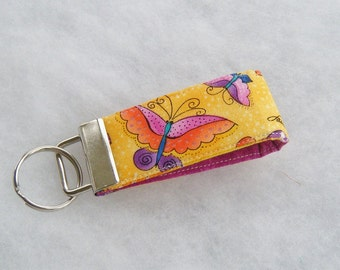 Mini Key Fob  - Laurel Burch butterflies