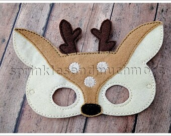 Deer Mask Woodland Creatures Masks Felt Mask Pretend Play Creative Play Masks Halloween Mask Easter Basket