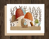 ON SALE Bookish Forest Chipmunk Blank Note Card