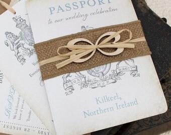 Ireland Crest Passport Wedding Invitation (Kilkeel, Ireland) - Design Fee