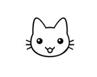 Cute Mini Kawaii Japanese cat kitty rubber stamp