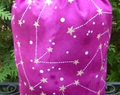 Constellations Knitting project bag, WIP bag, knitting project bag, Suebee, Pick Your Color