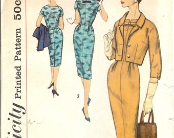 Vintage 1960s Sewing Patterns Simplicity Dresses 2727
