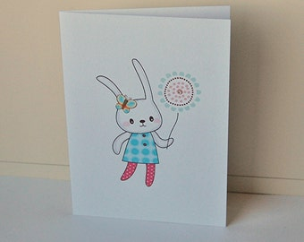 Bunny Note Cards, Blank Note Card Set, Birthday Cards, Handmade Cards, Greeting Cards, All Occasion Cards, Easter Bunny Cards, Note Cards
