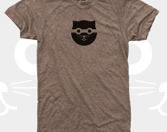 Men's TShirt, Bandit Watson the Cat, Men Tee Shirt, Cat, Crazy Cat, Mens Cat Shirt, Men Graphic Tee, Blue, Gift for Men, Cat T-Shirt for Men