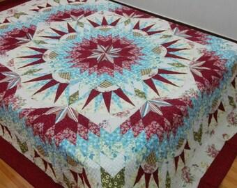 Queen Star Patchwork Complete Quilt