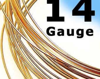 14 Gauge 14K Rose (Pink) Gold Filled Wire Round Half Hard HH- 1 Ft