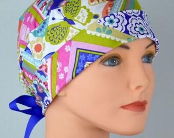 Scrub Hats // Scrub Caps // Scrub Hats for Women // The Hat Cottage // The Mini // Ribbon Ties // Handkerchief Paisley