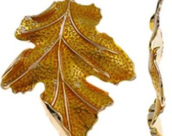 1pc 67x51mm zinc alloy enamel leaf pendant-9212