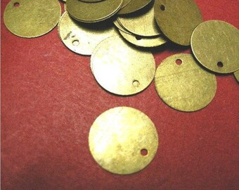 100pc antique bronze 10mm iron pendant-5141