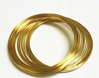 5.5cm gold finish memory wire 200 loops for bracelet-3231x4