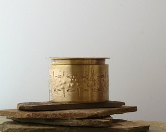 Handmade Small Metal Box,Small Brass Box,Hollow Vessel,Brass Vessel,Textured Metal Box, Brass Jar, Brass Container, Stash Box, Keepsake Box
