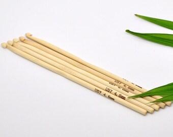 Crochet Hook Bamboo  - 4.5mm