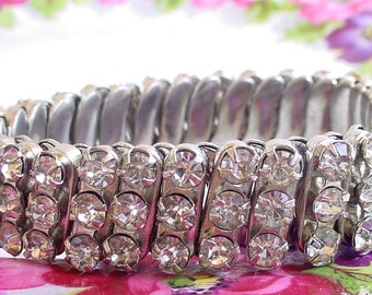 Clear Rhinestone Expandable Bracelet - The Glitz!