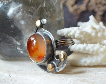 Solar Flare Agate Ring