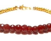 Super Luxe Ruby and Gold Bracelet Ruby Bracelet Gold Bracelet Karen Hill Bracelet July Birthstone Bracelet Ruby Gold Bracelet Anniversary