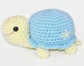 Crocheted Turtle Bennie the Cute Little Blue Turtle