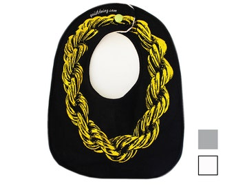 Gold Rope Chain ) Bib ) Colors Available