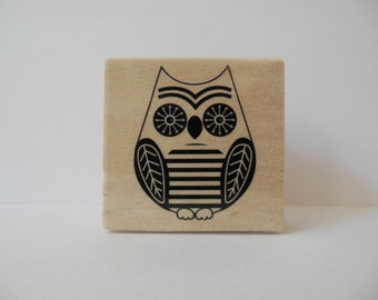 Owl Stamp - Hoot and Howl Collection - Rubber Stamp - Woodland Animal