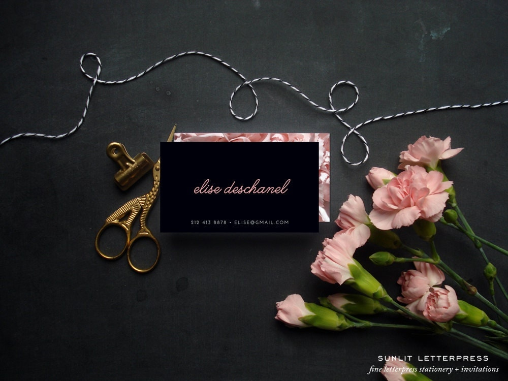 flower business card - Military.bralicious.co