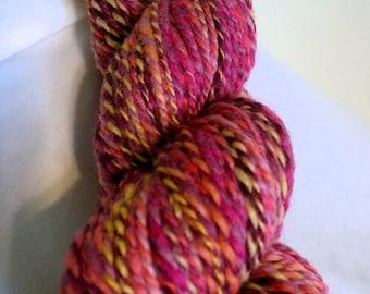 SALE! Sweet Peas, handspun wool yarn, 50 g/170 yds