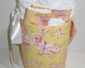 CUSTOM ORDER for Marlena - Central Park Toile Bucket Set in Yellow Toile