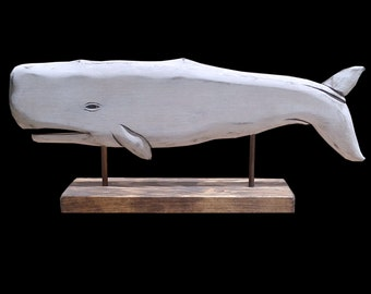 Whales, Desktop Series - White Moby Dick Sperm Whale