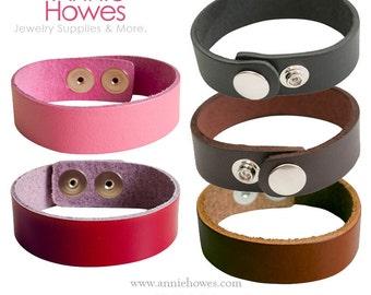 Boho Leather Cuff Bracelet .75 Inch Width