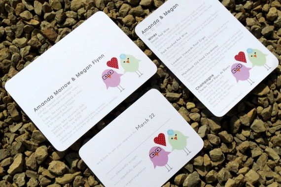 Wedding Invitation Modern Love Bird - Bella2 Wedding Deposit
