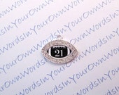 Customized Personalized Players Numbers Charm Football Crystal Silver Rugby Sports Pendant