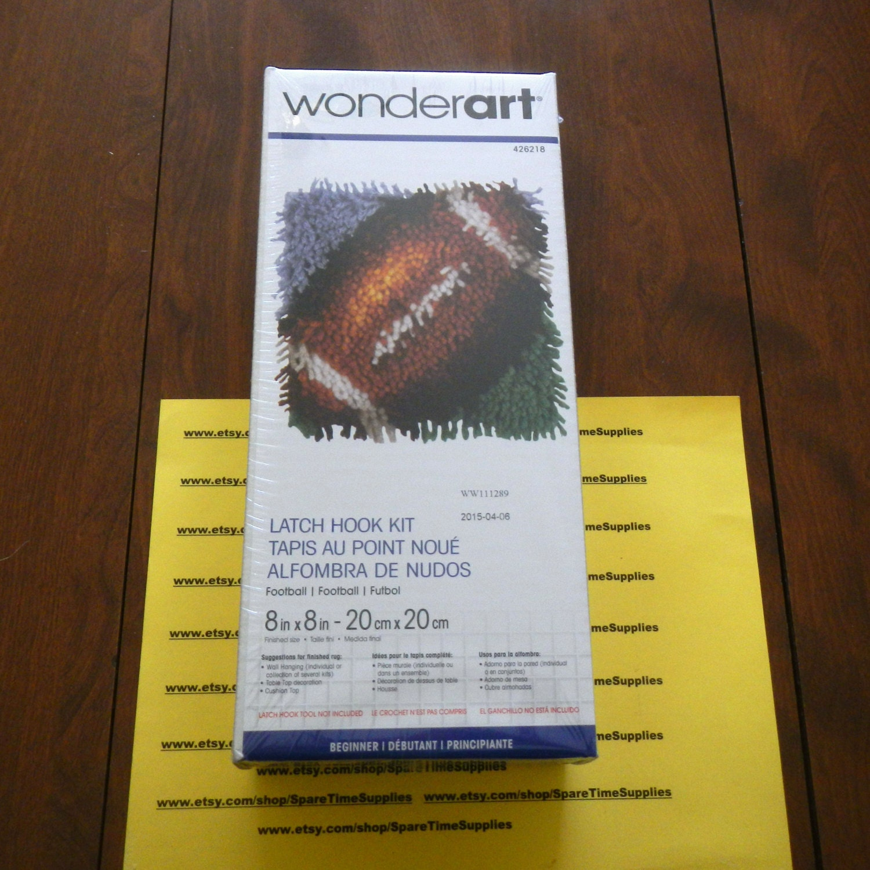 Wonder Art 426218 Football Latch Hook Kit Approx. 8 X