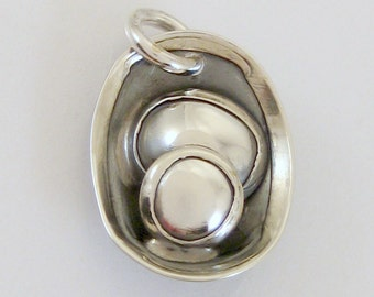 CS14 - Sterling Silver Glacial Pothole Charm by LauraRoberson
