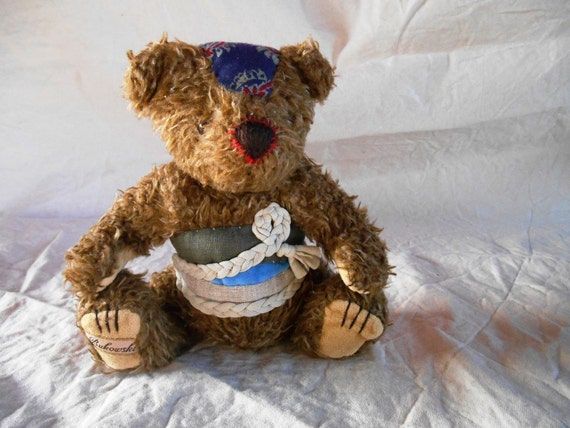 "Soft Toy re-covered ""Brown Bear"" fabric and jersey thread"