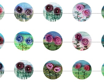 """1"""" Inch Organza Flower Garden Flatbacks, Pins or Magnets 12 Ct."""