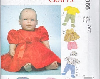 """McCalls 7066 Baby Doll Clothes Accessories Girl Dress Panties Jacket Top Boy Pants Sewing Pattern Sizes 11-16"""" New UNCUT"""