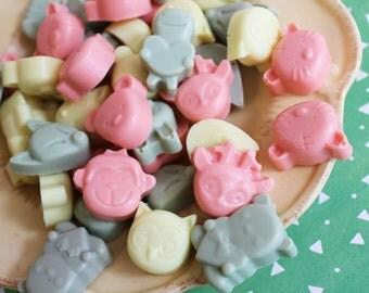 Animal Soap Critter Set - Animal Soaps, Mini Soap, Party Favors, Kids Bath, Fox Soap, Monkey Soap, Soap Favors, Bunny Soap, Turtle Soap