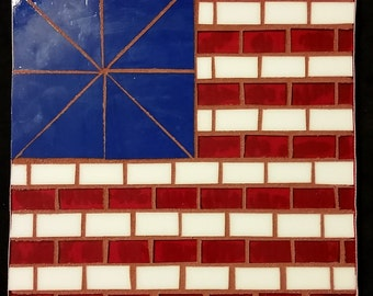 American Flag Mosaic