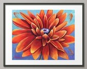Gallery Canvas and Fine Art Prints Sunflower Still life Floral Orange Yellow Landscape Elena