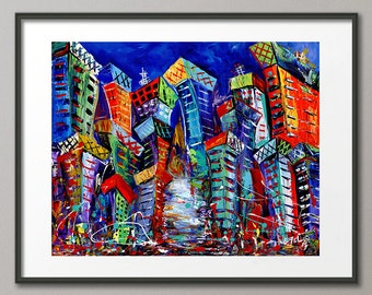 Gallery Canvas and Fine Art Prints Cityscape Urban Skyline Architecture Abstract Modern Art Elena