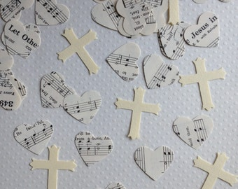 Vintage Cross Confetti Party Decor