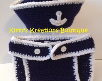 Adorable Sailor/ Summer Hat with Matching Sandals/ Shoes (Boy or Girl) - Any Color - Lots of Sizes