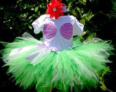 Girls Little Mermaid Outfit, Birthday Costume for Babies to Tweens, Ariel Birthday Set, Mermaid Tutu Seashell Onesie Sea Shell Mermaid Shirt