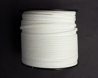 5m faux suede 3mm - white