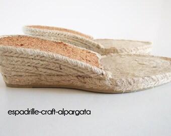 espadrille jute soles - M3 - 5 cms heel - 35 to 42 European size
