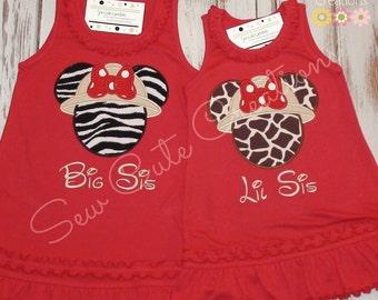 Safari Mouse Dress Mouse Ears Dress Safari Mouse Ears Dress Girl Mouse Dress Jungle Mouse Dress Girl Birthday Dress sew cute creations