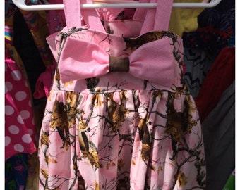 pink camo bow sundress
