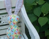 Multi-Colored Tile Pile and Dots Bits the Bunny Rattle